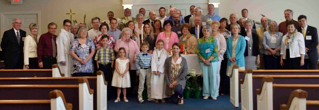 Picture of Grace Lutheran Church Members and Visitors on Easter Sunday